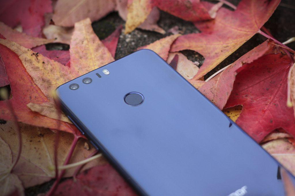 Das Honor 8 mit Touch-Sensor zum Entsperren des Smartphones
