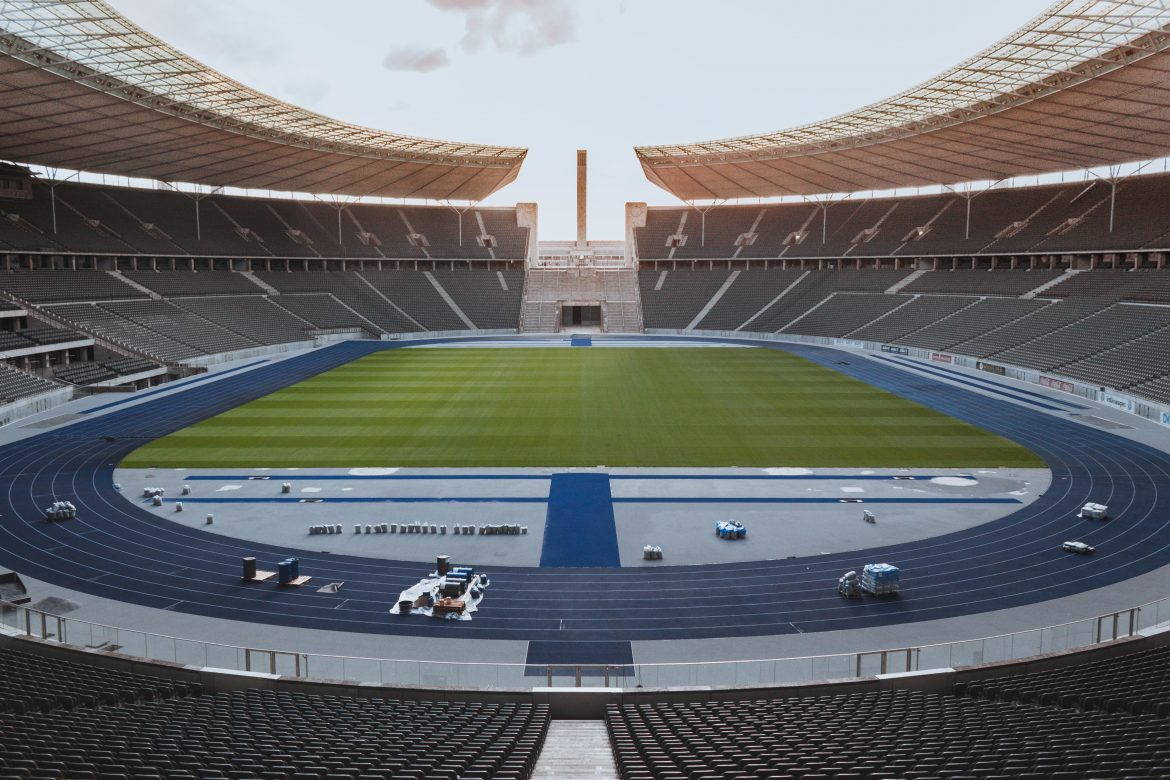 Techniktour im Olympiastadion in Berlin