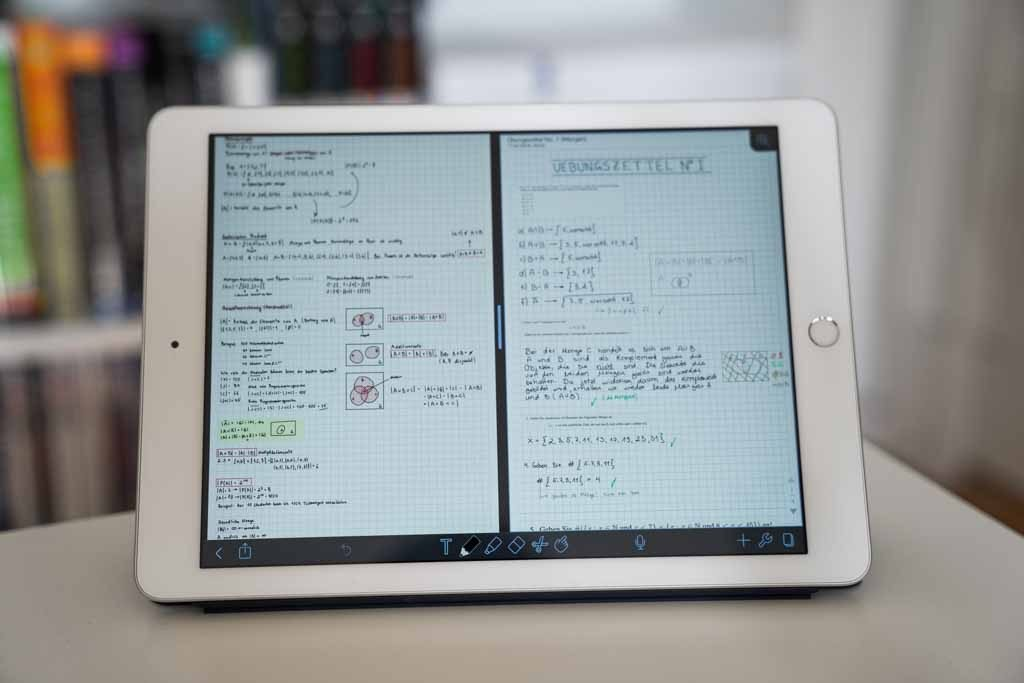 Multitasking / Split View funktioniert mit Notability wunderbar.