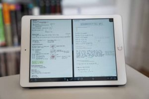 Multitasking / Split View funktioniert mit Notability wunderbar