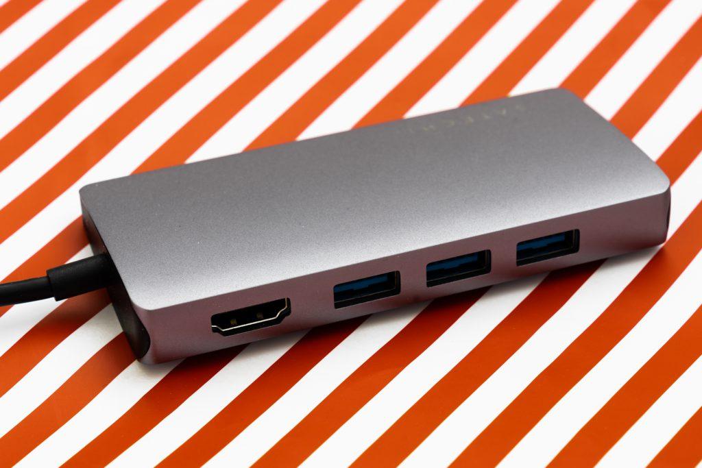 Satechi USB-C Hub Detailansicht vorne