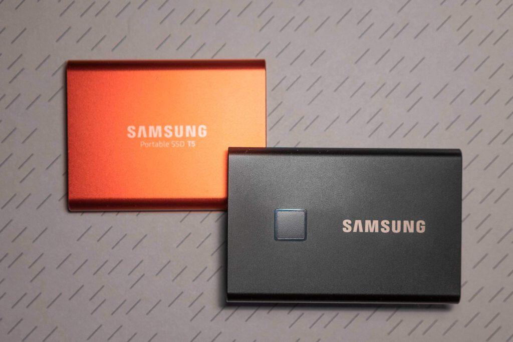 Formfaktor der T7 SSD ähnelt der einer Kreditkarte