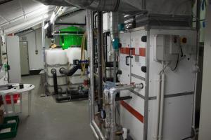 Technikraum des Entmüdungsbeckens